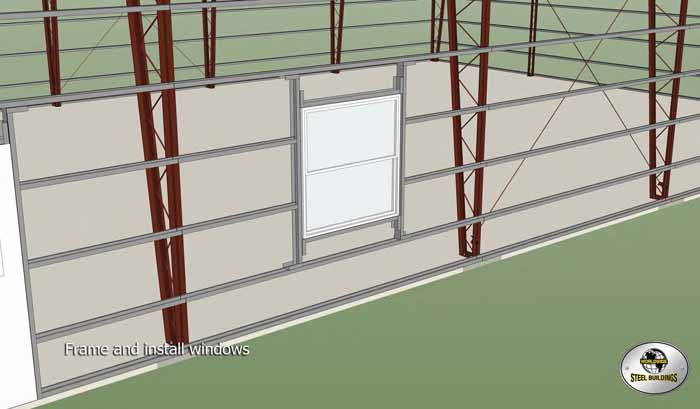 frame and install windows