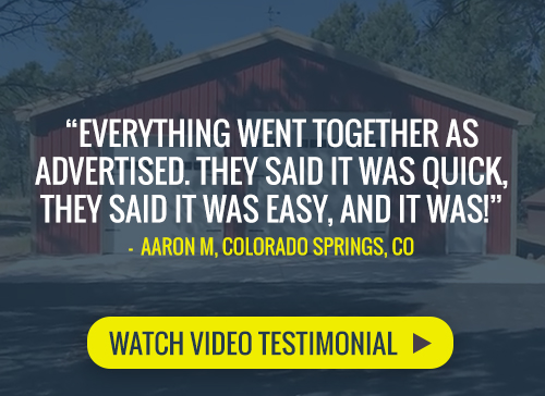 Watch a video testimonial by a satisfied Worldwide Steel Buildings customer talking about his new steel building kit.