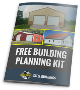 Plan your custom steel garage, workshop, greenhouse, or other metal building with this free building planning kit from Worldwide Steel Buildings.