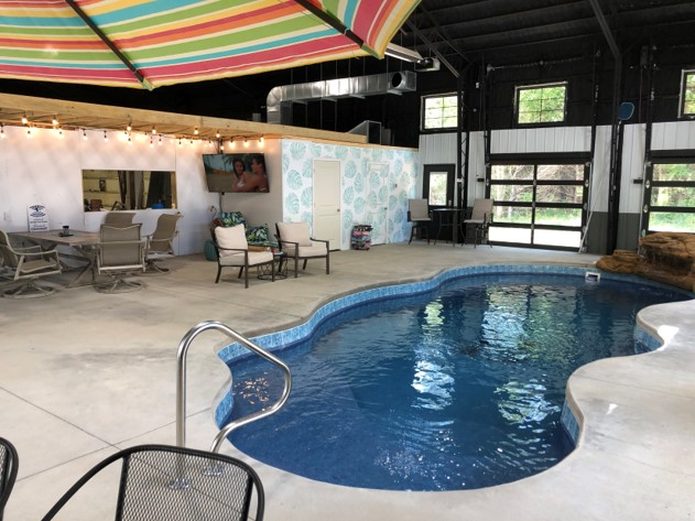 Finished indoor pool